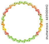 beautiful gradient frame. color ... | Shutterstock . vector #665430442