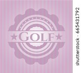 golf badge with pink background | Shutterstock .eps vector #665431792