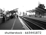 black and white blurred view of ... | Shutterstock . vector #665441872