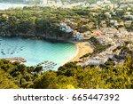 llafranc  costa brava  spain  ... | Shutterstock . vector #665447392