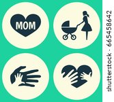mothers day icon design concept.... | Shutterstock .eps vector #665458642