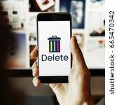 delete cancel cut out remove... | Shutterstock . vector #665470342