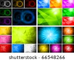 four beautiful abstract...   Shutterstock .eps vector #66548266
