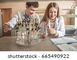 chemical laboratory  europe  ... | Shutterstock . vector #665490922