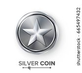 game silver coin vector with...