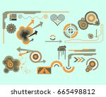 design elements set | Shutterstock .eps vector #665498812
