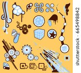 design elements set | Shutterstock .eps vector #665498842