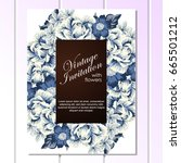 invitation with floral...   Shutterstock .eps vector #665501212
