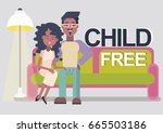 childfree or voluntary... | Shutterstock .eps vector #665503186