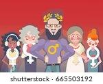 sexism or gender discrimination   Shutterstock .eps vector #665503192
