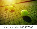 soft focus of tennis ball on... | Shutterstock . vector #665507068