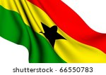 flag of ghana against white... | Shutterstock . vector #66550783