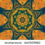 geometric kaleidoscope lime... | Shutterstock . vector #665509882