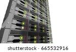 modern datacenter. cloud... | Shutterstock . vector #665532916