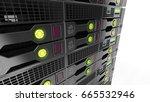 modern datacenter. cloud... | Shutterstock . vector #665532946