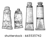 paint tubes illustration ... | Shutterstock .eps vector #665535742