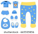 vector baby clothes icon set... | Shutterstock .eps vector #665535856