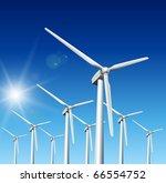 wind driven generators ... | Shutterstock .eps vector #66554752