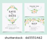 wedding invitation card... | Shutterstock .eps vector #665551462