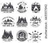 camper and caravaning club.... | Shutterstock . vector #665557042