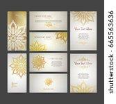 set of vector design templates. ... | Shutterstock .eps vector #665563636