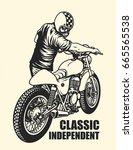 vintage classic independent   Shutterstock .eps vector #665565538