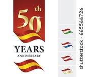 anniversary 50 th years... | Shutterstock .eps vector #665566726