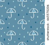 raindrop with blue glitter... | Shutterstock .eps vector #665570206