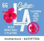 college academy hibiscus...   Shutterstock .eps vector #665597506
