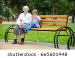 young boy and his great... | Shutterstock . vector #665601448