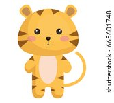 stuffed animal tiger | Shutterstock .eps vector #665601748