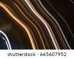 straight  yellow light lens... | Shutterstock . vector #665607952
