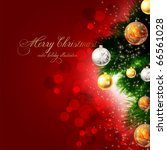 christmas background with... | Shutterstock .eps vector #66561028