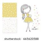 my little kitty. fashion... | Shutterstock .eps vector #665620588