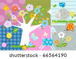 nature background with flowers... | Shutterstock .eps vector #66564190