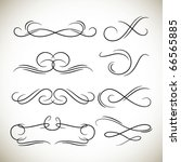 vintage calligraphic design... | Shutterstock .eps vector #66565885
