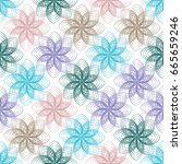 abstract geometric flowers. can ...   Shutterstock .eps vector #665659246