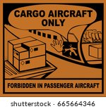 cargo aircraft only | Shutterstock .eps vector #665664346