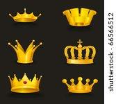 crown set  eps10 | Shutterstock .eps vector #66566512