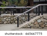 stone and steel stairs | Shutterstock . vector #665667775