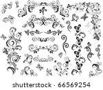 vintage design elements | Shutterstock .eps vector #66569254
