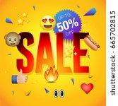 sale poster or flyer design on... | Shutterstock .eps vector #665702815