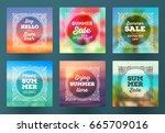 summer season sale design  ... | Shutterstock .eps vector #665709016