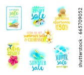 set of season sale designs.... | Shutterstock .eps vector #665709052