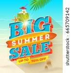 big summer sale design   summer ... | Shutterstock .eps vector #665709142