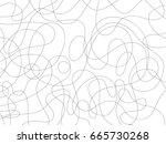 abstract black scribble... | Shutterstock . vector #665730268