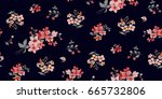 Stock vector seamless floral pattern in vector 665732806