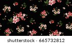 seamless floral pattern in... | Shutterstock .eps vector #665732812