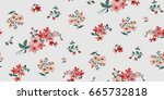 seamless floral pattern in... | Shutterstock .eps vector #665732818