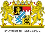 coat of arms of free state of... | Shutterstock .eps vector #665733472
